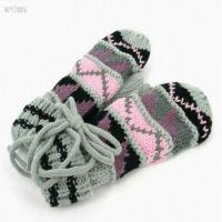 Buy cheap Colourful jacquard knit gloves from wholesalers