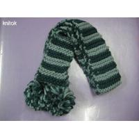 Stripe knitted scarves for lady