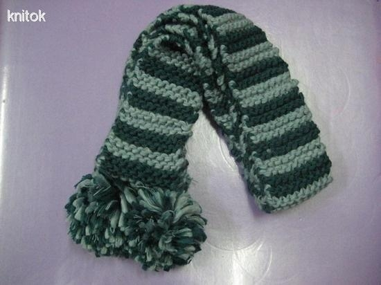 Quality Stripe knitted scarves for lady for sale