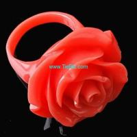 Buy cheap Coral Carved Flower Ring from wholesalers
