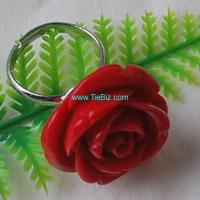 Buy cheap CoralFlowerBeadRing from wholesalers