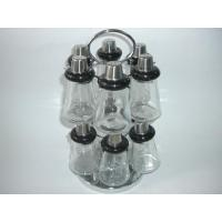 China Salt and Pepper series 13pc spice bottle with metal rack wholesale