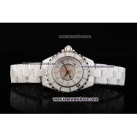 Buy cheap Chiyar Quartz Movement Full White Ceramic with Diamond Dial and Diamond Markers from wholesalers