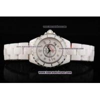China Chiyar Quartz Movement Full White Ceramic with White Dial and Numeral/Diamond Markers wholesale