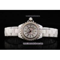 China Chiyar Quartz Movement Full White Ceramic with Diamond Bezel and White Dial wholesale
