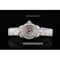 China Chiyar Quartz Movement Full White Ceramic with White Dial and Diamond Markers wholesale