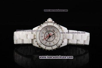 China Chiyar Quartz Movement Full White Ceramic with White Dial and Diamond Markers