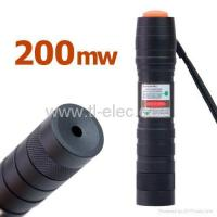 China Green Laser Pointer 200mW 532nm Torch Design Adjustable Spot Size (10-50) wholesale