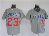 China 23 Ryne Sandberg Grey Majestic Athletic Jerseys on sale