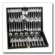 China FW51 Sterlingcraft 51pc Silverplated Flatware Set with ribbon design wholesale