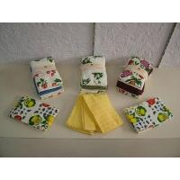 China Kitchen Kitchen 15 3 pcs set terry towel with embroidery wholesale