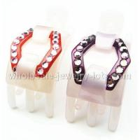 China Korean Tridentate Paw Min Side Claw---Crystal Hair Clip(Colors Random Picking) wholesale