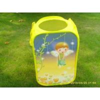 China Fairy Square Storage Bin Made of Polyester and Mesh Cloth wholesale