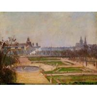China Impressionist(3830) The_Tuileries_and_the_Louvre wholesale