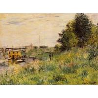 China Impressionist(3830) The_Banks_of_the_Seine_at_the_Argenteuil_Bridge wholesale