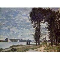 China Impressionist(3830) The_Banks_of_the_Seine_at_Argenteuil wholesale