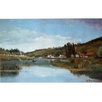 China Impressionist(3830) The_Banks_of_the_Marne_at_Chennevieres wholesale