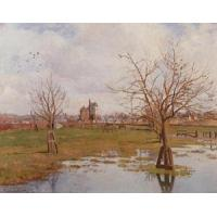 China Impressionist(3830) Landscape_with_Flooded_Fields wholesale
