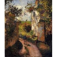 China Impressionist(3830) A_Peasant_in_the_Lane_at_l-Hermitage,_Pontoise wholesale
