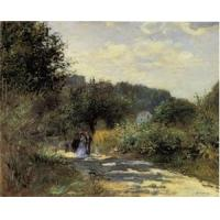 China Impressionist(3830) A_Road_in_Louveciennes_1 wholesale