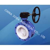China Flange PTFE Lined Butterfly Valve wholesale