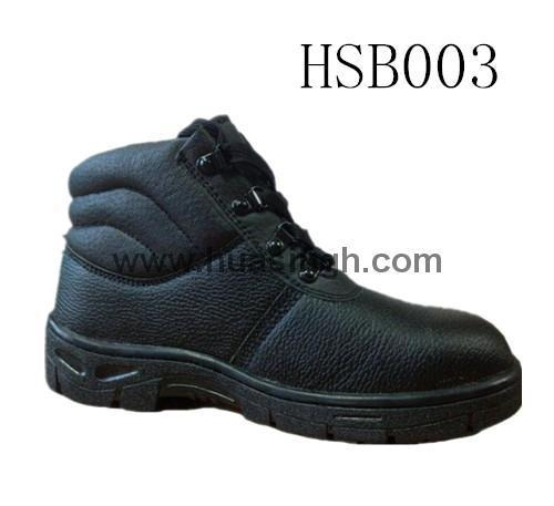 Quality Hotselling Product barton printed leather safety shoes in black for sale