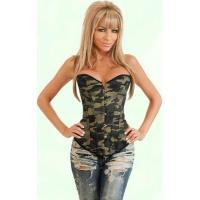China Sexy Camouflage Army Overbust Corset Plus Size Waist Cincher wholesale