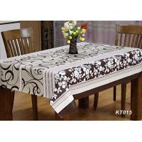 China KT015 round vinyl tablecloth wholesale