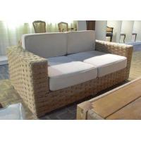 Buy cheap American design wood frame fabric sofa chair for living room and cafe from wholesalers