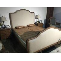 China Best selling solid wooden frame fabric cover furniture bed design furniture wholesale