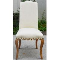 China Elegant Durable And Strong Dining Room Furniture Fbaric Solid Wooden Dining Chair wholesale