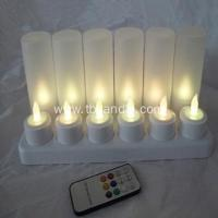 Buy cheap Truely flame remoted rechargeable LED tealight candle from wholesalers