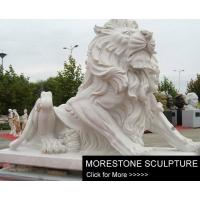 China Marble Sculpture White Marble Lion Sculpture wholesale