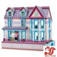 China Musical toys Deluxe Self-Storing Fully Furnished Dollhouse Model No.: SY19005 on sale