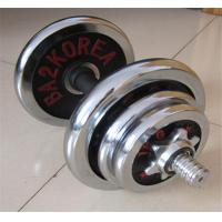 Adjustable chrome dumbbell