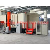 PVC manual fast color change powder coating booth with two station