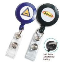 China Retractable badge holder with clip wholesale