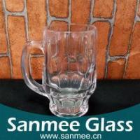 China 300ml Cheap Dimpled Glass Beer,Glass Mugs on sale