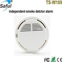 China TS-W169 Independent Batteries Smoke Detector Fire Sound And Light Alarm on sale