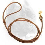 China 5 mm Round Leather Cane Corso Leash for Dog Shows wholesale