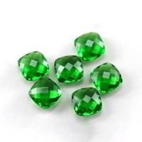 China square faceted cut glass gemstones wholesale