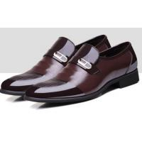 China 15.Men's Business Formal Breathable Patent Leather Slip On Dress Shoes on sale