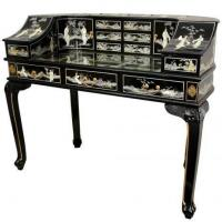 China Fine Lacquer Furniture Lacquer Lady's Desk w/ Mother of Pearl wholesale