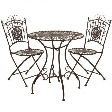 Metal garden table chair set images for Metal garden table and chairs