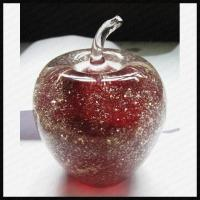 China Handmade Glass Apple Paperweight Gift on sale