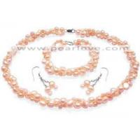 China NS169 freshwater nugget pearl jewelry set wholesale