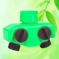 China 2-Way Garden Hose Splitter Tap Connector HT1221C wholesale