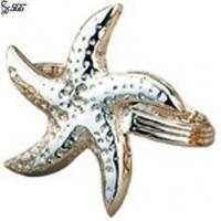 China Personalized Napkin Rings Stainless Steel Tableware Starfish Shape Tabletop Decoration wholesale