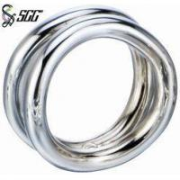 China Parties Simple Napkin Ring Stainless Steel Tableware Mirror Polished wholesale