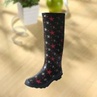 China Fashion Star Pattern Rubber Knee Boot For Woman wholesale